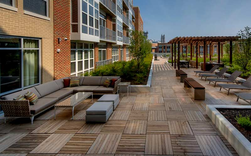 structural ipe wood deck tiles cathedral commons