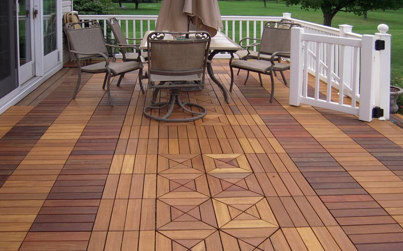 Interlocking Ipe Wood Deck Tiles From